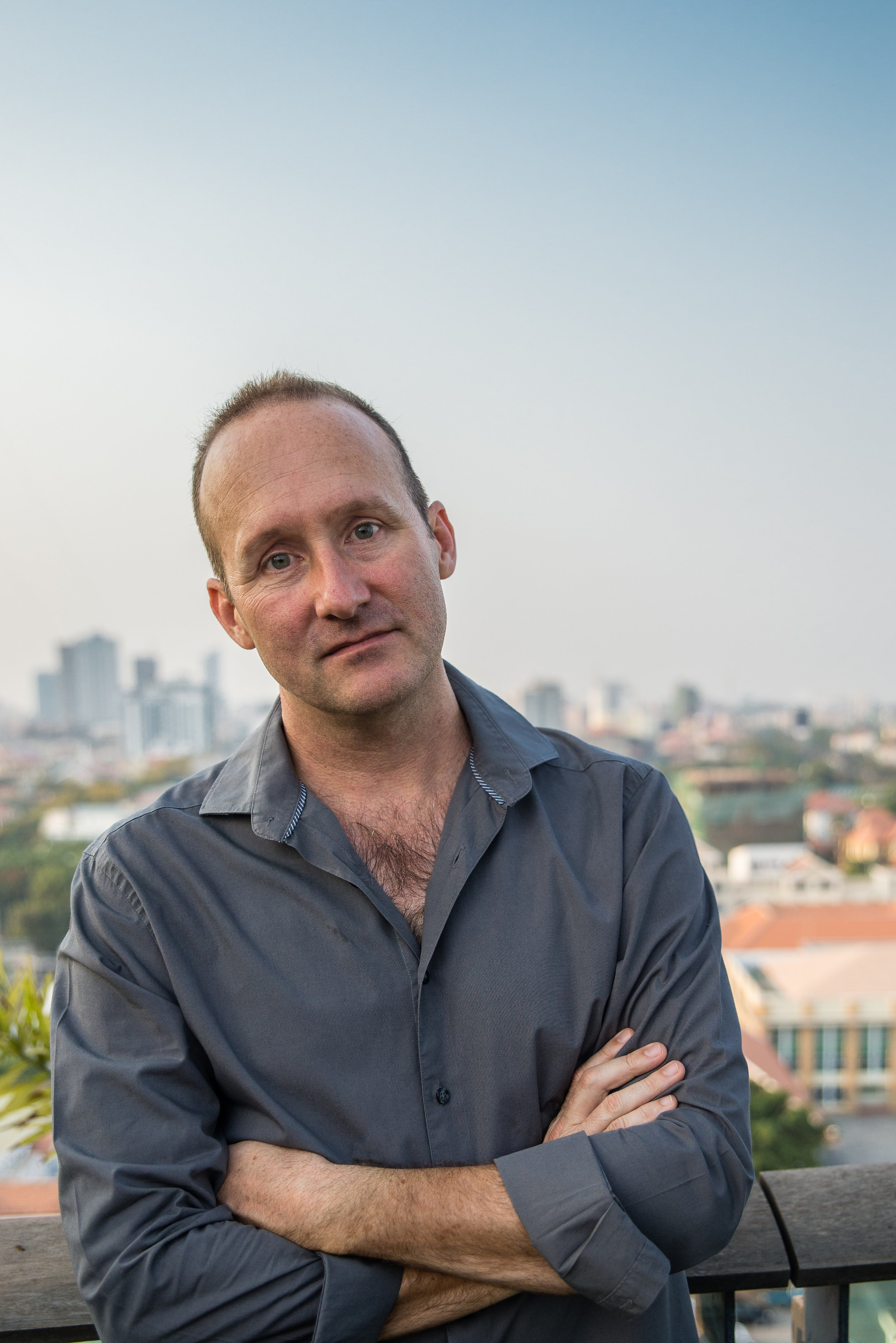 Image of journalist and author Robert Carmichael, Phnom Penh, 2015