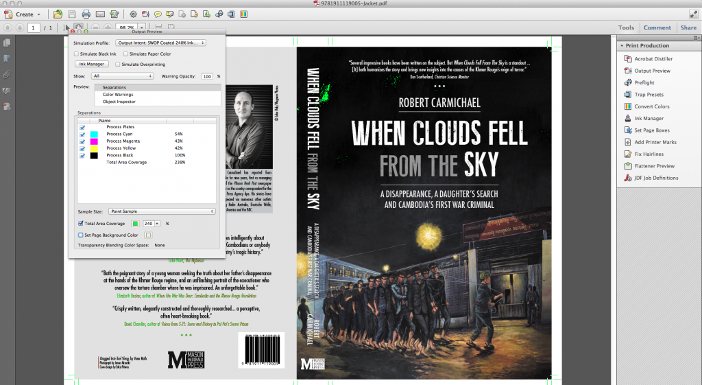 PNG image of the jacket of When Clouds Fell from the Sky - in Adobe Acrobat